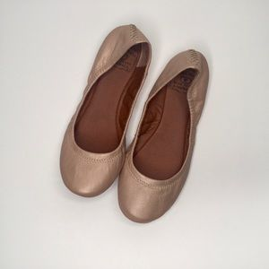Lucky Brand Emmie leather flats.